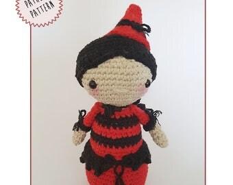 Halloween - amigurumi pattern -crochet witch pattern - pattern amigurumi - pdf download