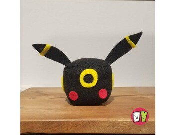 Umbreon Pokemon Cube Plushie - 2 Inch Felt Cube