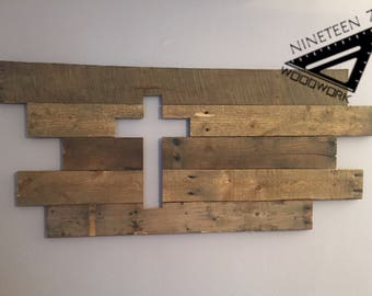 Reclaimed Wood Cross, Wall Hanging