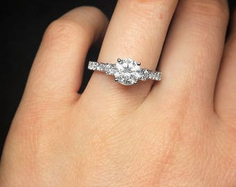 Filigree style diamond engagement ring
