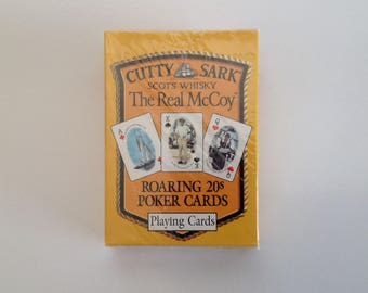 Vintage Cutty Sark - Scots Whiskey - The Real McCoy - Roaring 20s Poker Cards - Sealed / Unopened
