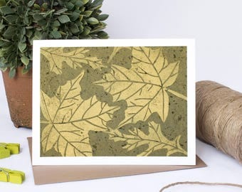 Note Card Set - 6 Blank cards - Note Cards - Handmade Cards - Stationery - Linocut - Set of cards - Novelty Cards -Gifts for her -Maple Leaf