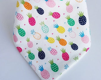 Pineapple Dribble Bib, Baby Dribble Bib, Drool Bib, Bandana Bib, Toddler Dribble Bib, Baby Shower Gift