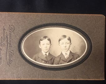 1890s Brothers Cabinet Card