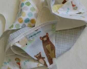 Woodland Animal Bunting, 10 flag bunting *Ready to ship!*