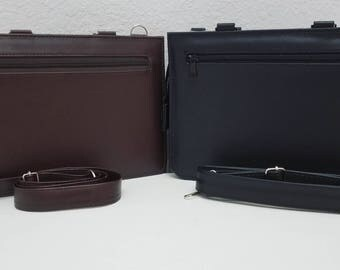 mini boys briefcase faux leather field service publisher personalized jw - Field Service Organizer