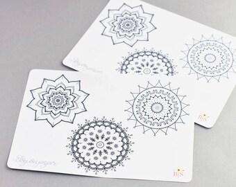 Love, Spring & Flower mandala planner stickers