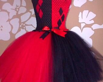 Harlequin Costume, Red and Black Tutu, Harlequin Fancy Dress, Jester Costume, Harlequin Tutu, Jester Tutu, Harlequin Party Dress