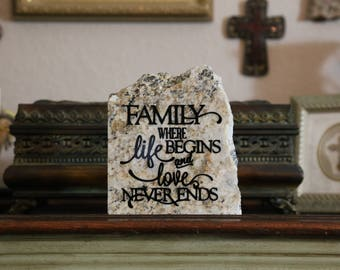 Family Life and Love- Granite Stone