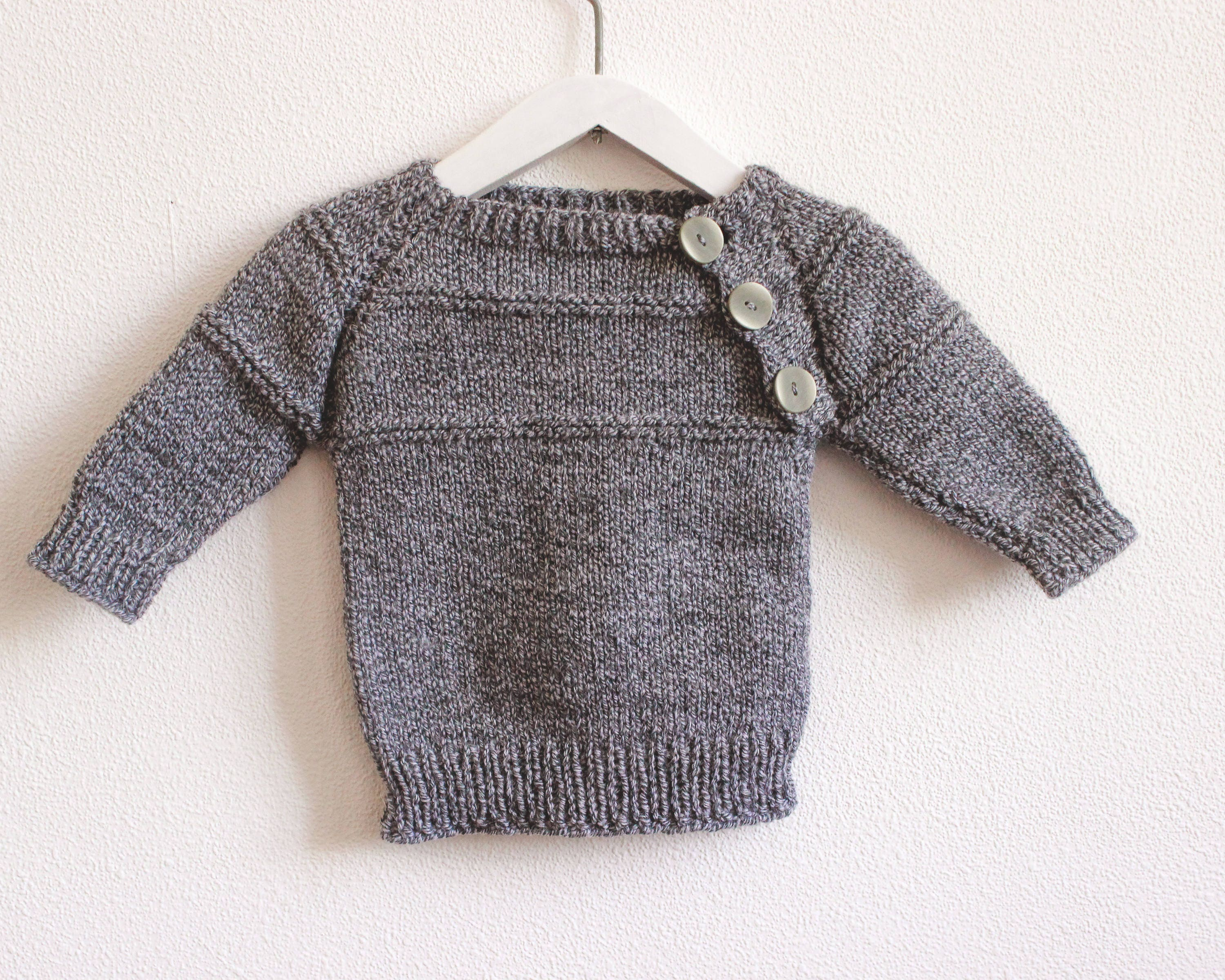 Baby Boy Clothes Knitted Sweater Warm Winter Jumper Handmade Baby