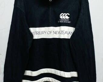 Vintage canterbury half zipper sweatshirt M