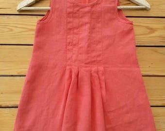 Beautiful 100 % linen summer dress for girls size 104/109