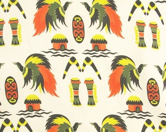Tribal Bird Print Fabric - 44 Inches Wide