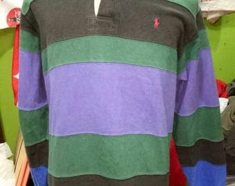 Vintage Polo by Ralph Lauren Rugby raglan polo sport