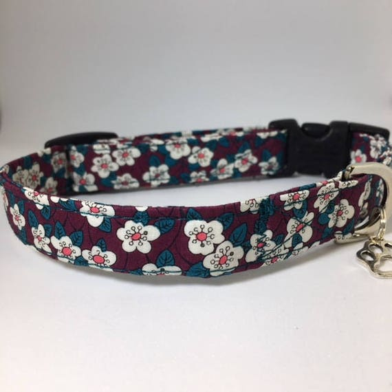 Sale Dog Collar, Willow, Pretty Dog Collar, Floral Dog Collar, Dog Collar UK,