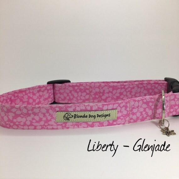 Liberty Dog Collar, Glenjade, Pretty Dog Collar, Floral Dog Collar, Girl Dog Collar, Luxury Dog Collar, Pink Dog Collar, Liberty Collar.