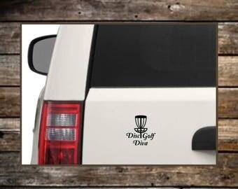 Disc Golf Diva Decal / 12 Colors / Laptop Decals / Car Decals / Computer Decals / Window Decals