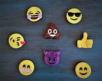 Ceramic Emoji Magnets