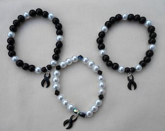 Cancer Awareness Bracelets (Melanoma)