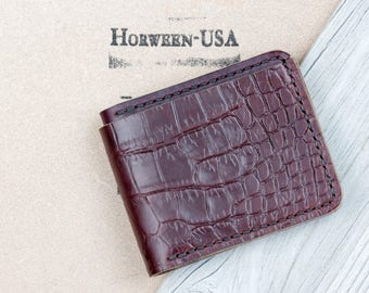 Chromexcel Gator Wallet // Alligator Wallet // Mens Leather Wallet // Crocodile Wallet // Gator Wallet // Gifts for Men // Made in USA