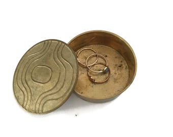 Brass Bohemian Ring Dish with Cover