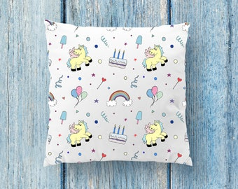 Unicorn Pillow, Nursery Pillow, Baby Pillow, Personalized Pillow, Little Girl Pillow, Popsicle Pillow, Rainbow Baby Pillow, Birthday Gifts