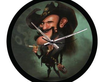 Vinyl Wall Clock - Caricature Lemmy Motorhead