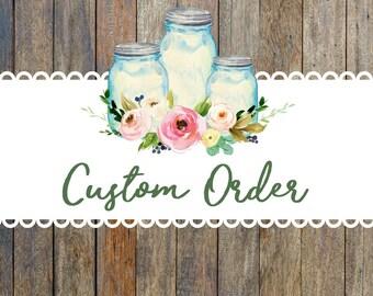 Custom Order JB - (3) wine (1) 30- O ombré