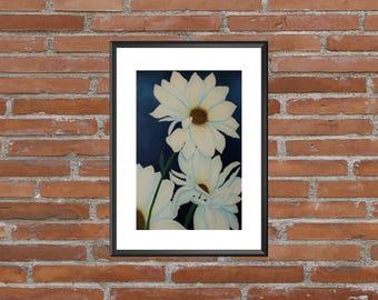 Daisy Art Print, Daisy Print, Daisy Art, Art Prints, Daisy Artwork, Daisy Home Decor, Daisy Wall Art, Daisy Wall Decor, Daisy Decor, Daisy
