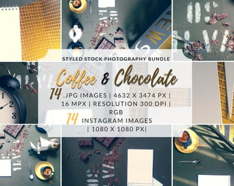Styled Stock Bundle, Instagram Bundle, Social Media Graphic, Styled Stock Bundle, Lifestyle Photography, Coffee Stock Photo, Flat Lay Bundle