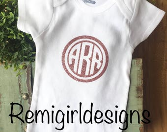 Monogram bodysuit, custom baby outfit, going home outfit, coming home outfit, newborn clothes, baby shower gift, baby hospital outfit