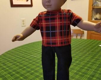 American Girl Boy Doll Shirt And Pants (Sku M138)