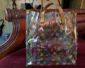 Genuine Dooney and Bourke Handbag Clear, Lunch tote. Perfect condition