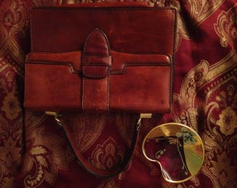 Vintage made in Italy purse and small dish