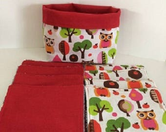 WASHABLE wipes OWL and Red