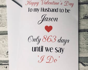 Husband/wife to be Valentine's Day card, Valentine's Day card