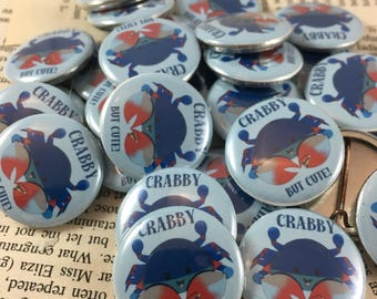 Maryland Blue Crab pinback button badge | Crab Fridge Magnet | Home is where the <3 is wine charms