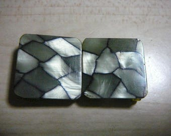 1920 1930 Art Deco Mother Of Pearl Celluloid Belt Buckle