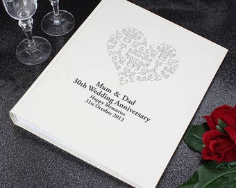 Silver Wedding Gift Ideas Husband : Silver Damask Heart Traditional Album Gifts Ideas For Wedding ...