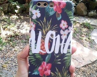 Huawei phone case/ phone cover/ Huawei 10plus/Aloha  screen print / hard case / Ready to ship