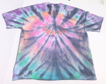Rainbow Spiral TIE DYE T-Shirt Size XL