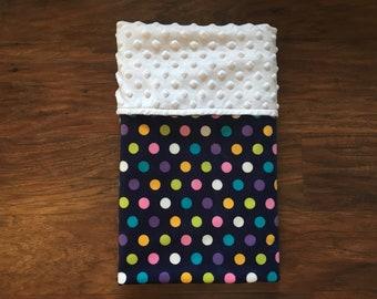 Minky Baby Blanket, Polka Dot Minky Blanket, Girl Minky Baby Blanket, Baby Shower Gift, Nursery Bedding, Play Mat, Baby Branch Boutique