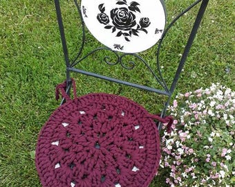 Two Chair Pads, Crochet Cotton Chair Pads, Kitchen Chait Pads, Dining Chair Pads, Chair Cover