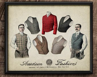 19th Century Fashion · Instant Download · Collage · Vintage · Wall · Printable #22