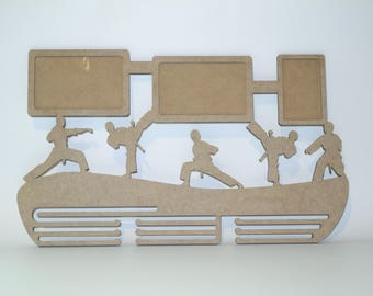 Wooden medal holder, Karate room decor, Ready to decorate