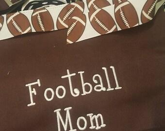 Initials Inc Monogrammed Football Mom Purse
