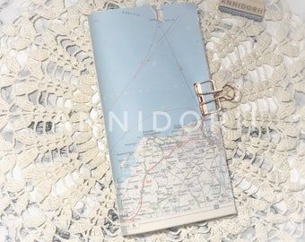 Junk Journal for Travelers Notebook | Travel journal Gr. Regular (11 x 21 cm)