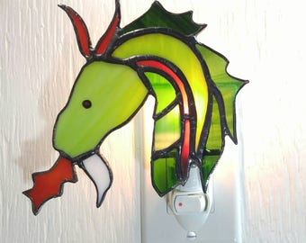 Dragon stained glass night light