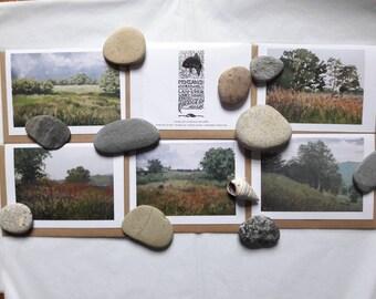 Set of five Welsh Landscape cards