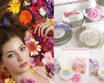 Chrysanthemum Twist - Body Butter - Non Greasy - Hand Cream - Foot Cream - Body Balm - Organic Cream - Vegan Lotion - Natural Handmade